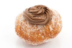 Krapfen with chocolate Stock Images