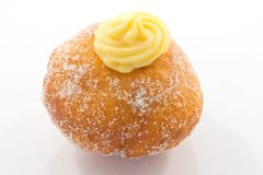 Krapfen with the cream Royalty Free Stock Photo