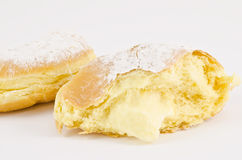 krapfen or donuts with cream Stock Photo