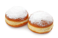 Krapfen or donuts with jam stock photos