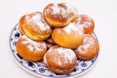 Krapfen, typische Duitse donuts Royalty-vrije Stock Afbeeldingen