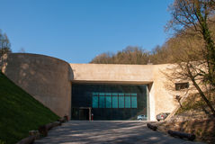 The Krapina Neanderthal Museum. KRAPINA, CROATIA - March 30, 2014 - The Neanderthal Museum in Krapina, Croatia stock images