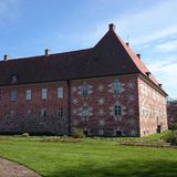 Krapperup slott i Nyhamnsläge, Höganäs, Sverige Royaltyfria Bilder