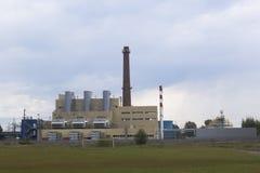 Krasavinskaya gas turbine CHP in the city of Krasavino, Veliky Ustyug district, Vologda region. Krasavino, Velikoustyugsky district, Vologda region, Russia Stock Image