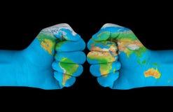 Krasch av världen royaltyfria bilder