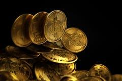 Krasch för cryptocurrency för Bitcoin valuta kontant royaltyfria foton