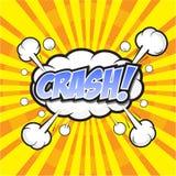 Krasch! komiskt ord Fotografering för Bildbyråer