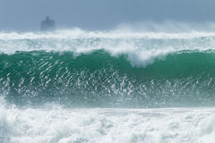 Krascha för storm för havvågor Royaltyfria Foton