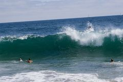krascha waves Royaltyfri Foto