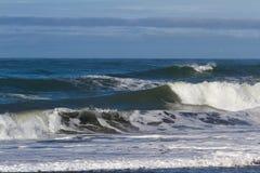 krascha waves för strand Arkivbild