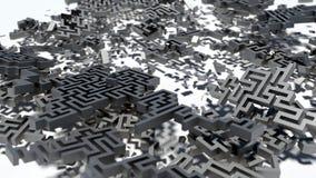 Kraschad labyrint Royaltyfri Foto