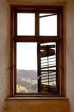 Kraschat fönster Royaltyfria Foton