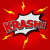 Krash! Stockfoto