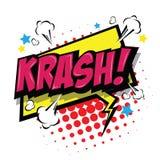 Krash! Comic Speech Bubble. Vector Eps 10. Stock Images