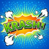 Krash! - Komische Sprache-Blase, Karikatur. Stockbilder