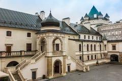 Krasiczyn Polska, Lipiec, - 17, 2016: Renesansu kasztel w Krasicz Zdjęcie Stock