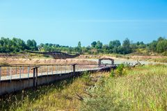 Krasiejow: jurapark- dinosaur theme park royalty free stock photo