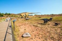 Krasiejow: jurapark- dinosaur theme park royalty free stock images