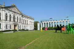 Krasinski Palace and The Supreme Court in Warsaw, Poland Royalty Free Stock Photography