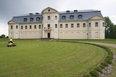 Kraslavas nieuw paleis Royalty-vrije Stock Afbeeldingen