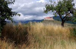 Krasna Horka城堡, Roznava斯洛伐克 库存图片