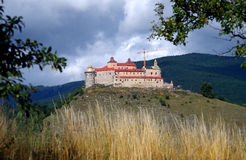 Krasna Horka城堡, Roznava斯洛伐克 图库摄影