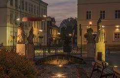 Krasna Lipa镇在北部波希米亚 免版税图库摄影