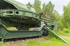 Krasnaya Gorka fort. TM-1-180 Railway Gun Stock Image