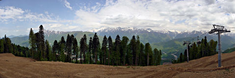 Krasnaya Polyana, большой Сочи Стоковая Фотография RF
