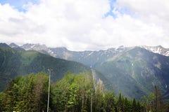 Krasnaya Polyana caucasus Zdjęcia Stock