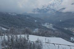 Krasnaya Polyana. Mountain winter landscape at Krasnaya Polyana Royalty Free Stock Photo