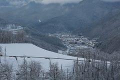 Krasnaya Polyana. Mountain winter landscape at Krasnaya Polyana Stock Images
