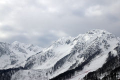 Krasnaya polyana mountains Royalty Free Stock Image