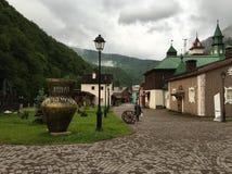 Krasnaya Polyana semesterort fotografering för bildbyråer