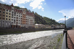 Krasnaya Polyana.  Sochi 2014 -Olympic Park, Roza Khutor, hotels Royalty Free Stock Photos