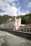 Krasnaya Polyana.  Sochi 2014 -Olympic Park, Roza Khutor, hotels Royalty Free Stock Photo