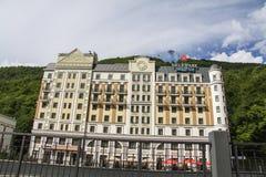 Krasnaya Polyana.  Sochi 2014 -Olympic Park, Roza Khutor, hotels Royalty Free Stock Images
