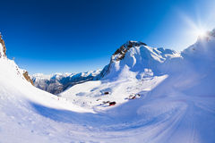 Krasnaya polyana winter Caucasus landscape, Sochi Royalty Free Stock Images