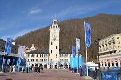 Krasnaya Polyana during winter Olympic games Royalty Free Stock Image