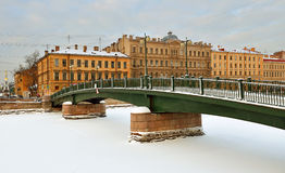 Krasnoarmeisky bro över Fontanka Royaltyfri Foto