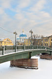 Krasnoarmeiskybrug over Fontanka, Royalty-vrije Stock Foto