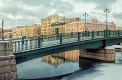 The Krasnoarmeyskiy Red Army bridge in Saint Petersburg. Stock Photo