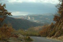 krasnodar山区域路俄国 免版税库存图片
