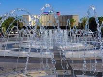 Krasnodar, πηγή πριν από το θέατρο Στοκ Φωτογραφίες