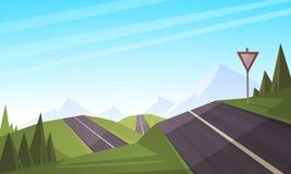 krasnodar δρόμος Ρωσία περιοχών βουνών Στοκ φωτογραφίες με δικαίωμα ελεύθερης χρήσης