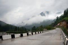 krasnodar дорога Россия зоны горы Стоковое Изображение RF