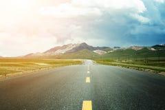 krasnodar дорога Россия зоны горы Стоковое Изображение