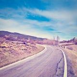krasnodar дорога Россия зоны горы Стоковая Фотография