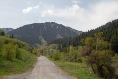 krasnodar bergregionväg russia Arkivfoton
