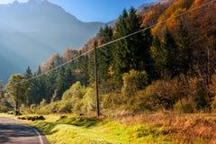krasnodar bergregionväg russia Royaltyfri Fotografi